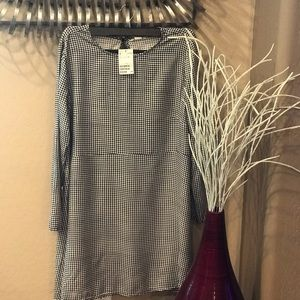 H&M long sleeve Gingham dress size 12 woman's